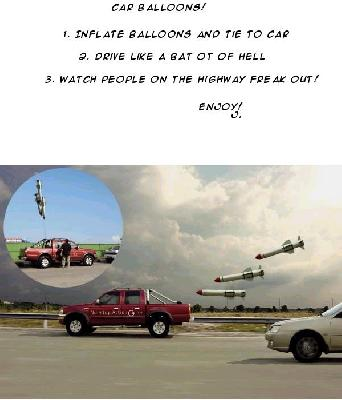 Car Chased By Missles