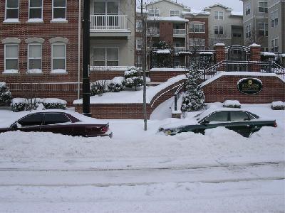 Cars along the sidewalk