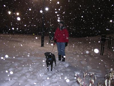 Maggie and Sam in the Snow